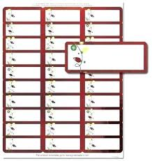Holiday Address Label Templates Christmas Address Labels Template