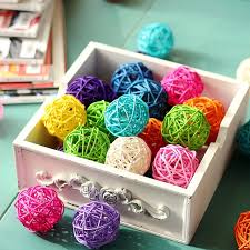 Decorative Cane Balls Unique 32pcslot 32 Colors To Choose Cane Rattan Ball Pendant DIY Ball