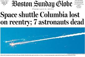 Image result for space shuttle Columbia during re-entry.