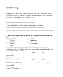 parent conference template sample parent survey template 10 free documents download in pdf