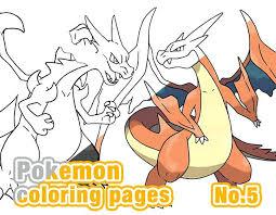 pokemon coloring pages mega charizard x printable the