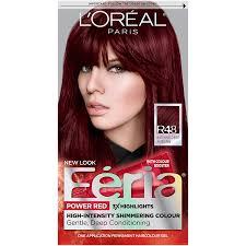 amazon l oréal paris feria permanent hair color r48 red velvet intense deep auburn chemical hair dyes beauty