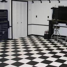 black and white diamond tile floor. Modular Garage Floor Covering - Black \u0026 White Diamond And Tile D