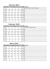 2015 Monthly Calendar Template 12 - Free Printable Templates