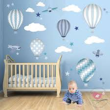 hot air balloons jets luxury nursery wall art sticker design for a baby boys nursery on baby boy nursery wall art stickers with deluxe hot air balloons luxury nursery wall art sticker designs by