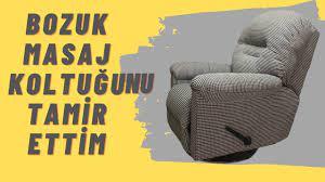BOZUK MASAJ KOLTUĞUNU TAMİR ETTİM (massage chair fabric change) - YouTube