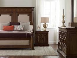 Mansion Bedroom Furniture King Mansion Bed With Upholstered Panels By Art Furniture Inc