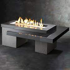 The Outdoor Greatroom Black Uptown Gas Fire Pit Table Upt 1242 Hvacdirect Com