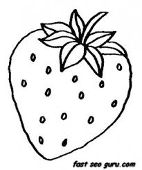 Small Picture Printable Fruits Strawberry coloring pages Printable Coloring
