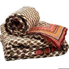 Little India Jaipuri Pure Cotton Double n Single Bed Quilt Set ... & Buy Little India Jaipuri Pure Cotton Double n Single Bed Quilt Set Adamdwight.com