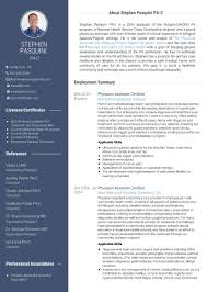 Physician Assistant Resume Use VisualCV to Create a Stunning Physician Assistant Resume The 13