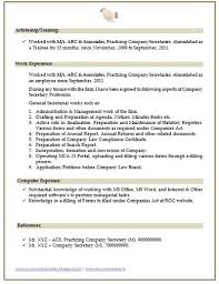 Over 10000 CV and Resume Samples with Free Download: Company Secretary  Resume Sample