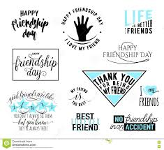 Vector Illustration Of Happy Friendship Day Typography Design