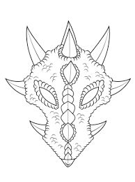 Small Picture Dragon Mask coloring page Free Printable Coloring Pages
