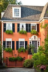 Orange Exterior Paint Color For Small Houses With Small Cottage Design