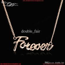 forever lover designer necklaces pendants 18k rose gold plated fashion brand vintage jewelry