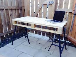 pallet office furniture. Wooden Pallet Office Desk With 3 Post Metal Legs Furniture