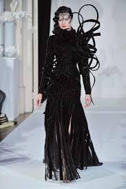 Black Couture Fashion Designers Fashion Dress Collection Model Models Clothes Paris Clothing