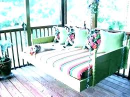outdoor porch bed swing round with canopy for rattan