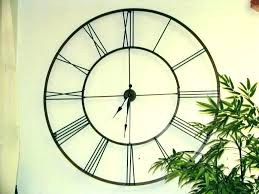 outdoor clocks large wall clock waterproof with cl