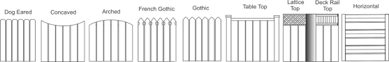 picket fence drawing. \u0026nbsp; These Are Our Most Popular Nashville Picket Fence Styles Drawing T