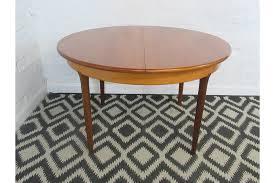 retro mid 20th century meredew teak round circular oval extending dining table photo 1