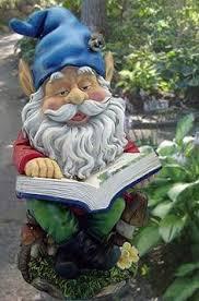 gnome reading book statuary 14 h funny garden gnomes funny gnomes love garden