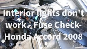 Honda Accord Interior Lights Not Working Troubleshoot Interior Fuses