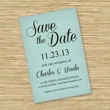Save The Date Template With Script Typography