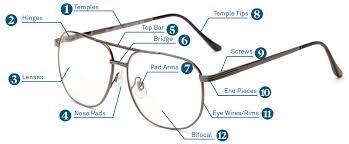 Specs Frame Size Chart Parts Of An Eyeglass Frame Glasses Diagram Readers Com