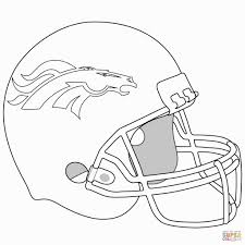 Denver Broncos Helmet Coloring Page From