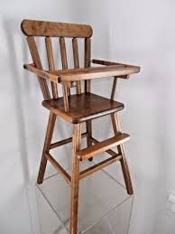 wooden baby high chairs antique vintage retro wood baby doll bear high chair toy lift