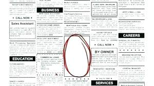 Images Of Classifieds Newspaper Template For Classified Ads