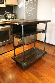 kitchen island cart industrial. Kitchen Islands:Industrial Island Cart White On Wheels Industrial Rolling Small C