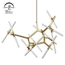 <b>Contemporary</b> Creative <b>Light</b> Gold Black Glass LED <b>G9 Chandelier</b>
