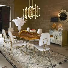 dining room chandelier brass. Jonathan Adler Meurice Rectangular Chandelier Brass Lighting Over Dining Room Table