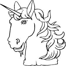 Unicorn Head Coloring Pages Coloringstar