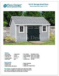 Small Picture Garden Storage Shed Plans 10 x 14 Gable Roof Design D1014G Free