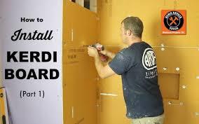 how to install schluter kerdi board hrt part 1