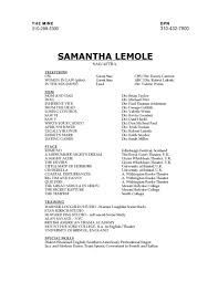 Resume — Samantha Lemole