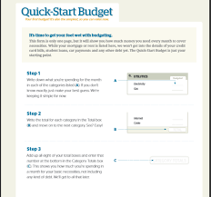 Form For Budgeting Quick Start Budget Dave Ramsey Budget Templates