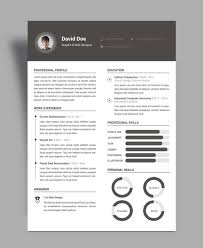 Free Elegant Resume Cv Design Template Psd File Good Classy Resume