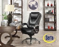 serta big and tall smart layers blissfully executive office chairs chair black kitchen dining ility ball