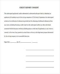 Credit Consent Form Sample Credit Report Forms 9 Free Documents In Word Pdf