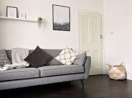 black floor living room botanical living room