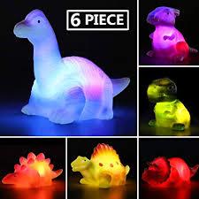 MAPIXO 6 Packs Light-Up Floating Dinosaur <b>Bath Toys</b> Set, for Baby