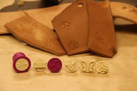 picture of 3d printed stamps for leather