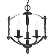 greyson collection 3 light black chandelier