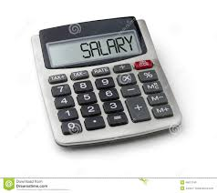 Salary Calculator Calculator With The Word Salary Stock Image Image of calculate 25