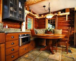 small cabin kitchen designs. rustic eat-in kitchen idea in seattle with glass-front cabinets small cabin designs i